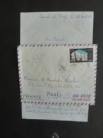 Timbre UAR EGYPTE  Air Mail  80M  Cachet à Date Port Saïd  1966  Vers Paris -- Mai 2019 Cla L - Airmail