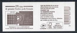 """Carnet De 2019 De 12 Timbres Adhésfs """"Marianne L'engagée - LETTRE VERTE"""" - Couvert. """"170 Ans Du Premier Timbre Français"""" - Usage Courant"""