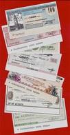 MINIASSEGNI Tutti Diversi (Lot De 7) - [10] Checks And Mini-checks
