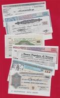 MINIASSEGNI Tutti Diversi (Lot De 8) - [10] Checks And Mini-checks