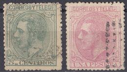 ESPAÑA - SPAGNA - SPAIN - ESPAGNE- 1879 - Lotto Di 2 Valori Usati: Yvert 184 E 190. - 1875-1882 Royaume: Alphonse XII