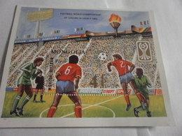 Miniature Sheet Perf Junior Football 1985 Ussr - Mongolia
