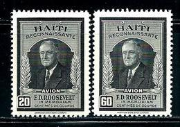 Haiti     Franklin D. Roosevelt     Set    SC# C33-34 MNH** - Haiti