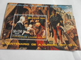 Miniature Sheet Imperf 500 Year Anniversary Artist Durero - Equatorial Guinea