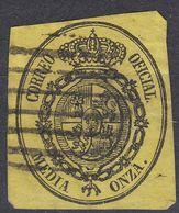ESPAÑA - SPAGNA - SPAIN - ESPAGNE- 1855 - Yvert Servizio 5 Usato Di Seconda Scelta. - Servizi