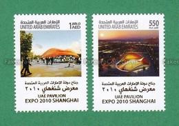 2010 UAE Emirates Emirats Arabes Arabi - Pavilion EXPO 2010 Shanghai China 2v MNH ** - Universal Expositions - As Scan - 2010 – Shanghai (China)