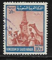 Saudi Arabia Scott # 522 Used Oil Derrick, Camels,1969 - Saudi Arabia