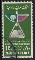 Saudi Arabia Scott # 617 Used World Communications Day, 1970 - Saudi Arabia