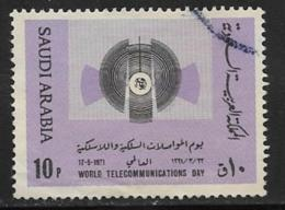 Saudi Arabia Scott # 623 Used Telecommunications Symbol, 1971 - Saudi Arabia