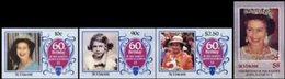 ST VINCENT 1986 QII 60th Birthday Ser.I IMPERF.SET:4 Stamps - St.Vincent (1979-...)