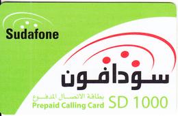 SUDAN - Sudafone Prepaid Card(plastic) SD 1000, Used - Soudan