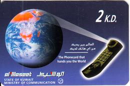 KUWAIT - Earth, Swiftel Prepaid Card 2 KD(paper), Used - Kuwait