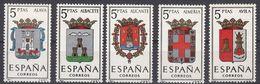 ESPAÑA - SPAGNA - SPAIN - ESPAGNE- 1962 - Lotto Di 5 Valori Nuovi MNH: Yvert 1079/1082A. - 1931-Oggi: 2. Rep. - ... Juan Carlos I
