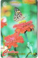 ANTIGUA & BARBUDA(GPT) - Butterfly, The Futillary, CN : 264CATA, Tirage %20000, Used - Antigua En Barbuda