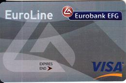 GREECE - Eurobank, Euroline Visa, Sample - Cartes De Crédit (expiration Min. 10 Ans)