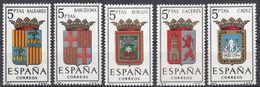 ESPAÑA - SPAGNA - SPAIN - ESPAGNE- 1962 - Lotto Di 5 Valori Nuovi MNH: Yvert 1113/1117. - 1931-Oggi: 2. Rep. - ... Juan Carlos I