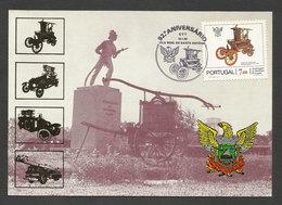 Portugal Cachet Commémoratif Carte Postale Sapeurs-Pompiers Vila Real De Santo António 1982 Event Postmark Firefighters - Sapeurs-Pompiers