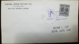 O) 1930 PANAMA, BOLIVAR SCT 247 4c Gray, NATHAN L. LEVY GATUN - CANAL ZONE, XF - Panama