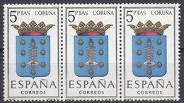ESPAÑA - SPAGNA - SPAIN - ESPAGNE- 1963 - 3 Valori Nuovi MNH Yvert 1153 Uniti Fra Loro. - 1931-Oggi: 2. Rep. - ... Juan Carlos I