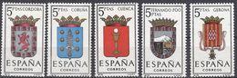 ESPAÑA - SPAGNA - SPAIN - ESPAGNE- 1963 - Lotto Di 5 Valori Nuovi MNH: Yvert 1152/1156. - 1931-Oggi: 2. Rep. - ... Juan Carlos I