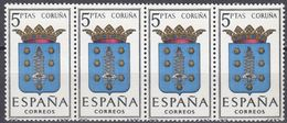 ESPAÑA - SPAGNA - SPAIN - ESPAGNE- 1963 - 4 Valori Nuovi MNH Yvert 1153 Uniti Fra Loro. - 1931-Oggi: 2. Rep. - ... Juan Carlos I