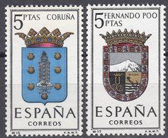 ESPAÑA - SPAGNA - SPAIN - ESPAGNE- 1963 - Lotto Di 2 Valori Nuovi MNH: Yvert 1153 E 1155. - 1931-Oggi: 2. Rep. - ... Juan Carlos I