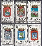 ESPAÑA - SPAGNA - SPAIN - ESPAGNE- 1963 - Serie Completa Di 6 Valori Nuovi MNH: Yvert 1179/1184. - 1931-Oggi: 2. Rep. - ... Juan Carlos I