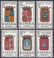 ESPAÑA - SPAGNA - SPAIN - ESPAGNE- 1962 - Serie Completa Di 6 Valori Nuovi MNH: Yvert 1179/1184. - 1931-Oggi: 2. Rep. - ... Juan Carlos I