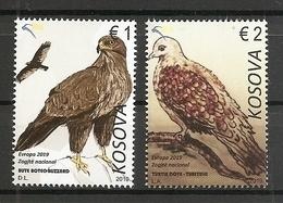 KOSOVO 2019,EUROPA CEPT,NATIONAL BIRDS,,MNH - Kosovo