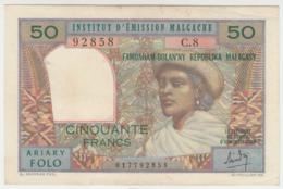 Madagascar  50 Francs 1969 VF+ Pick 61 - Madagascar