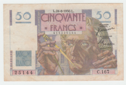 France 50 Francs 1950 VF Pick 127c  127 C - 1871-1952 Circulated During XXth