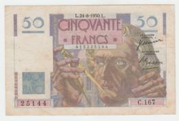 France 50 Francs 1950 VF Pick 127c  127 C - 1871-1952 Antiguos Francos Circulantes En El XX Siglo
