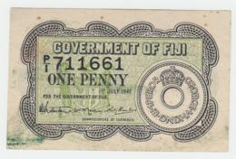 Fiji 1 Penny 1942 VF Pick 47 - Fidji