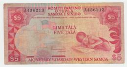WESTERN SAMOA 5 Tala 1980 Fine Pick 21 - Samoa