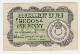 Fiji 1 Penny 1942 VF+ Pick 47 - Fidji
