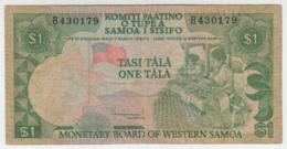 WESTERN SAMOA 1 TALA 1980 F+ Pick 19 - Samoa