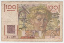 France 100 Francs 1946 VG Banknote Pick 128a 128 A - 1871-1952 Antichi Franchi Circolanti Nel XX Secolo
