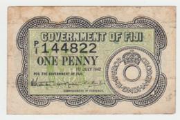 Fiji 1 Penny 1942 VF Pick 47 - Figi