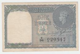 India 1 Rupee 1940 VF+ Pick 25a 25 A (NO HOLES) - India