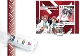 Latvia Lettland Lettonie 2018 Winter Olympic Games  - Latvian Medal Winners - Bronze Bobsleigh FDC - Latvia