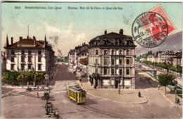 61ld 1218 CPA - BIEL BAHNHOFSTRASSE - BE Berne
