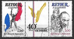 FRANCE  2369A 40ème Anniversaire De La Victoire . Triptyque Retour à La Paix Et Retour à La Liberté . - Oblitérés
