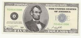 BILLET  DE  5   DOLLARS - SERIE 2015 - P0UR COLLECTION - - Banknotes