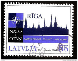 Latvia Lettland , Lettonia   - NATO Summit In Old City Riga, 2006.g.-  Used Stamp (0) - Latvia