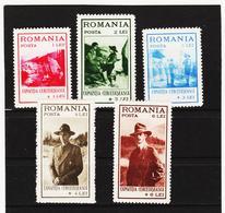 POL1795 RUMÄNIEN 1931 MICHL 413/17 (*) FALZ SIEHE ABBILDUNG - 1918-1948 Ferdinand, Carol II. & Mihai I.