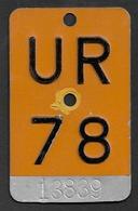Velonummer Mofanummer Uri UR 78 - Plaques D'immatriculation