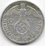 Allemagne - 2 Reichsmark 1939 F - [ 4] 1933-1945 : Troisième Reich