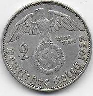Allemagne - 2 Reichsmark 1937 A - [ 4] 1933-1945 : Troisième Reich