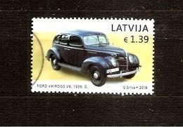2018 Latvia Lettland Lettonie  Latvian Auto Moto History - Ford Vairogs  USED (0) - Latvia