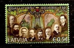 Latvia 2018 Riga Latvian Society  -  Stamp USED (0) - Latvia